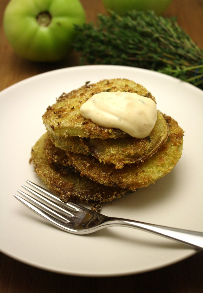 green tomatoes cornmeal crusted fried green fry the tomatoes in the ...